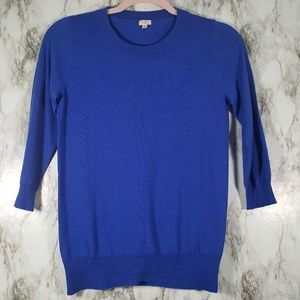 J. Crew Factory Charley Blue Wool Sweater XS S66